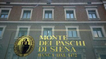 Une agence Monte dei Paschi di Siena, à Rome le 9 février 2017