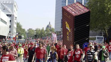 En 2013, la FGTB avait déjà utilisé un container afin de symboliser leur lutte contre des mesures gouvernementales.