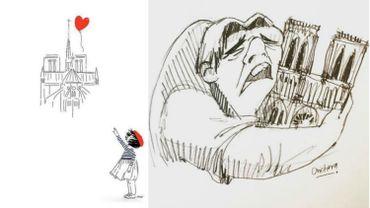Les hommages du web à Notre-Dame de Paris