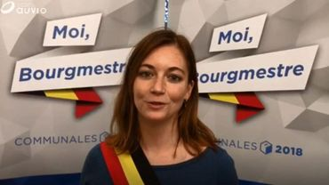 Hélène Lebrun, la nouvellebourgmestre de Houyet.