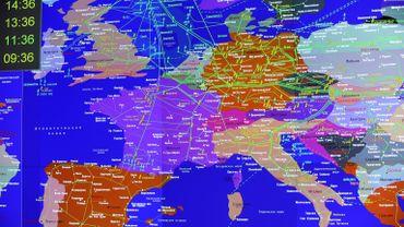 Carte d'Europe des réseaux gaziers