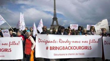 A Paris comme ailleurs, la cause des jeunes nigérianes est très médiatique.