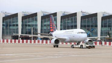 Un avion de Brussels Airlines sur l'aéroport de Zaventem.