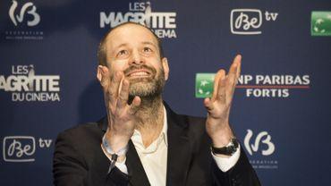 Manu Dacosse lors de la soirée de remise des Magritte du cinéma en février 2015