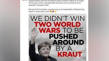 """""""Nous n'avons pas gagné deux guerres mondiales pour être bousculés par une 'Boche'"""""""