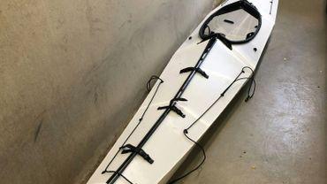 Kayak qui aurait été utilisé par Arjen Kamphuis, sur une photo fournie par la police norvégienne le 13 septembre 2018