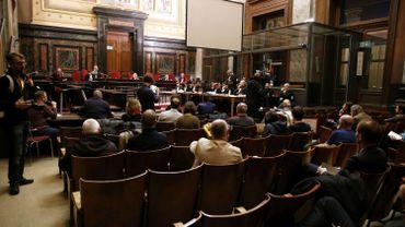 Vue de la salle d'audience de la cour d'assises