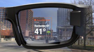 Les services météorologique d'AccuWeather vont pouvoir s'afficher dans le champ de vision des porteurs de lunettes Vuzix Blade.