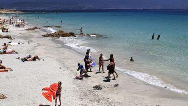 Une plage à Ajaccio en Corse