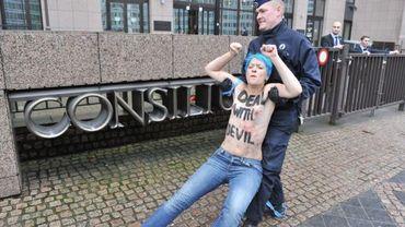La police a interpellé des manifestantes de Femen ce vendredi à Bruxelles