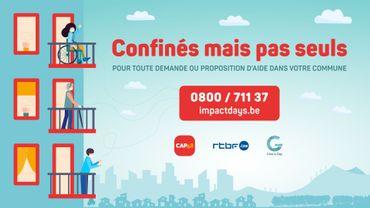 """""""Confinés mais pas seuls"""" : CAP48 et la RTBF lancent le numéro gratuit pour faciliter l'entraide proximité"""