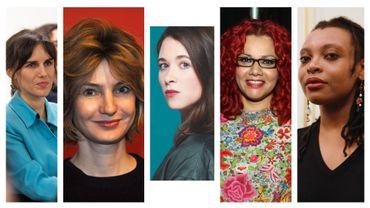 De gauche à droite : Myriam Leroy, Monica Sabolo, Emma Becker, Mona Eltahawy et Léonora Miano