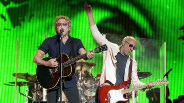 Roger Daltrey (à gauche) et Pete Townshend du groupe de rock anglais The Who lors du Festival de Glastonbury, en Angleterre, le 28 juin 2015.