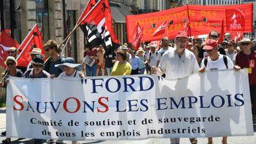 Manifestation à Bordeaux le 30 juin 2018 pour protester contre la fermeture attendue du site Ford de Blanquefort