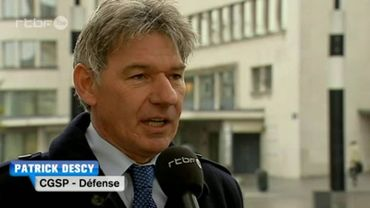 Patrick Descy, secrétaire permanent CGSP Défense.