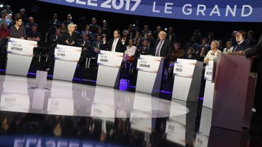 Débat de la présidentielle française: les candidats s'écharpent sur l'Europe