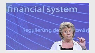 La commissaire européenne à la Justice, Viviane Reding, à Bruxelles le 25 juillet 2012