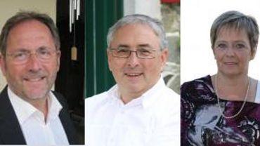 Jean-Pol Bleus (à gauche) et l'ancien député Yves Reinkin (au centre) ne se représenteront pas. Anne Wetz (à droite) se ralliera à la liste du bourgmestre.