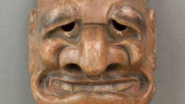 Masque de théâtre japonnais de la période d'Edo (XVIIIe siècle)