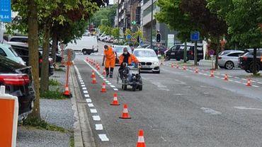 Les travaux ont débuté à Verviers pour la sécurisation de la circulation à vélo