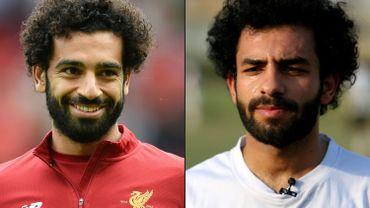 Mohamed Salah et son sosie Hussein Ali