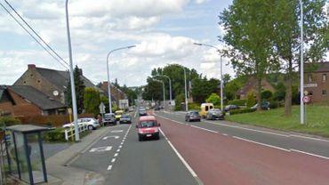 L'accident s'est produit sur la chaussée de Louvain, près de Champion.