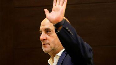 Amine Cherri, un député du Hezbollah chiite libanais sanctionné par le trésor américain lors d'une réunion de son groupe parlementaire 11 juillet 2019 à Beyrouth