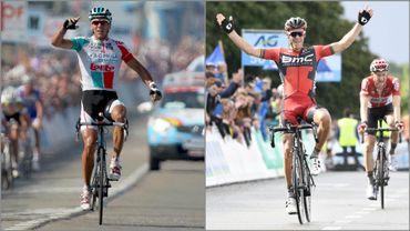 Philippe Gilbert célèbre ses deux victoires lors des Championnats de Belgique