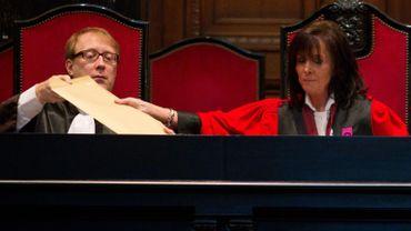 La présidente de la cour d'assises Karin Gérard.