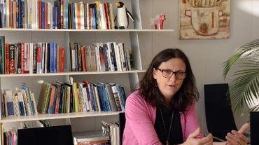 La commissaire européenne au Commerce, Cecilia Malmström, à Bruxelles le 20 avril 2015