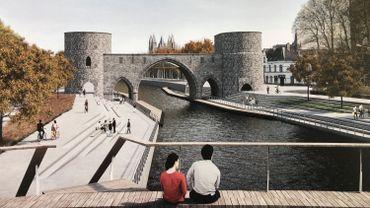Le nouveau visage du pont des Trous à l'horizon 2021.