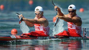 Les Russes Yury Postrigay et Alexander Dyachenko sont devenus champions olympiques du K2 200 m