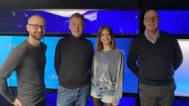 En compagnie de Bernard Roisin et Rodolphe Janssen