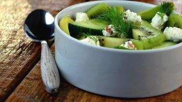 Salade toute verte au kiwi - © Qualitelandes.com/kiwi de l'Adour