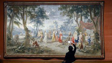 Tapisserie sur le thème de Don Quichotte, du peintre de Louis XV, Charles Coypel