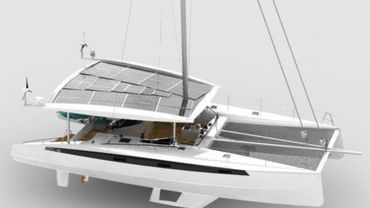 Le bateau sera construit avec de la fibre de verre et de carbone, un alliage solide et léger.