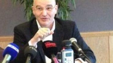 Nicolas Polutnik lors de la conférence de presse de ce jeudi matin