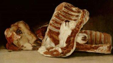 Goya - Nature morte avec une tête d'un agneau