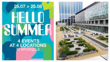 Hello Summer se déroulera dans quatre lieux différents de Bruxelles, dont l'esplanade de la Cité administrative.