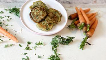 La Cuisine de Leslie - Blini de fanes de carottes