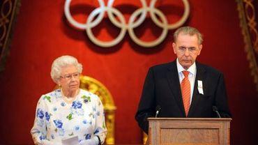 La reine Elizabeth II et Jacques Rogge