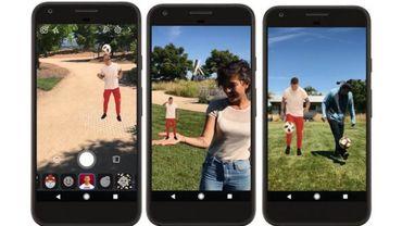 Facebook permet de jongler avec ses footballeurs préférés en réalité augmentée.
