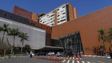 L'hôpital où a été admis le candidat d'extrême droite après avoir été poignardé.
