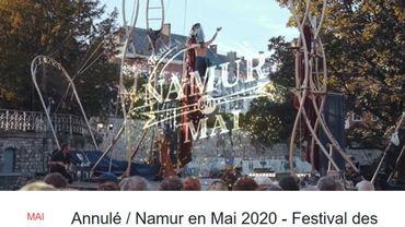 Le festival des arts forains, Namur en Mai est annulé