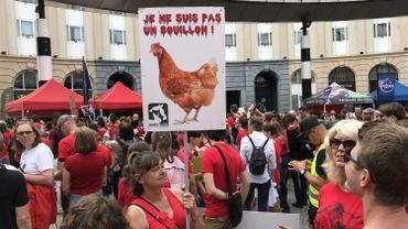 750 personnes participent à une marche pour la fermeture des abattoirs à Bruxelles