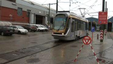 Le dépôt Stib de l'avenue de l'Hippodrome à Ixelles.