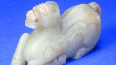 Cheval céleste en jade (Dynastie Jin)