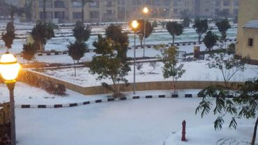 Il a neigé sur le Caire, une première depuis de plus de cent ans