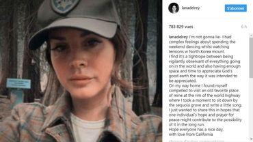 Lana Del Rey a publié un extrait de cette nouvelle chanson sur Instagram