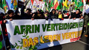 Manifestation début mars à Berlin pour défendre la région d'Afrin.